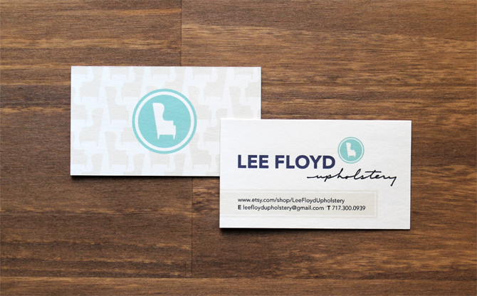 Lee floyd upholstery wade keller design for Upholstery business cards